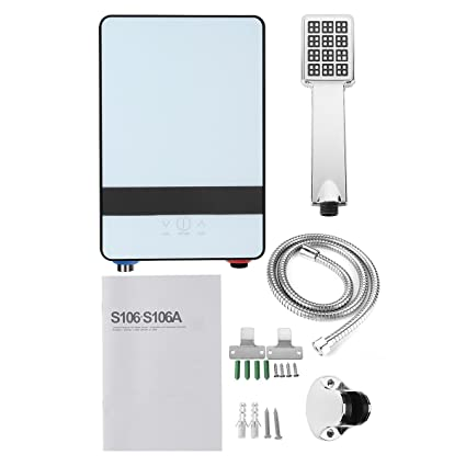 220V 6500W Mini tankless calentador de agua eléctrico instantáneo ducha de baño