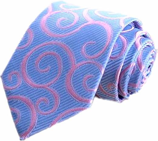 Corbata Moda Tie Clip Suit Joker Light Blue Pink Texture ...