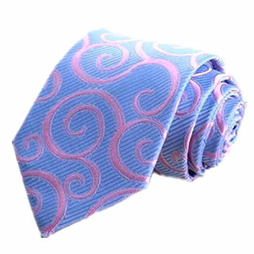 Corbata de Hombre Corbata Tie Clip Traje Joker Mens Light Blue ...