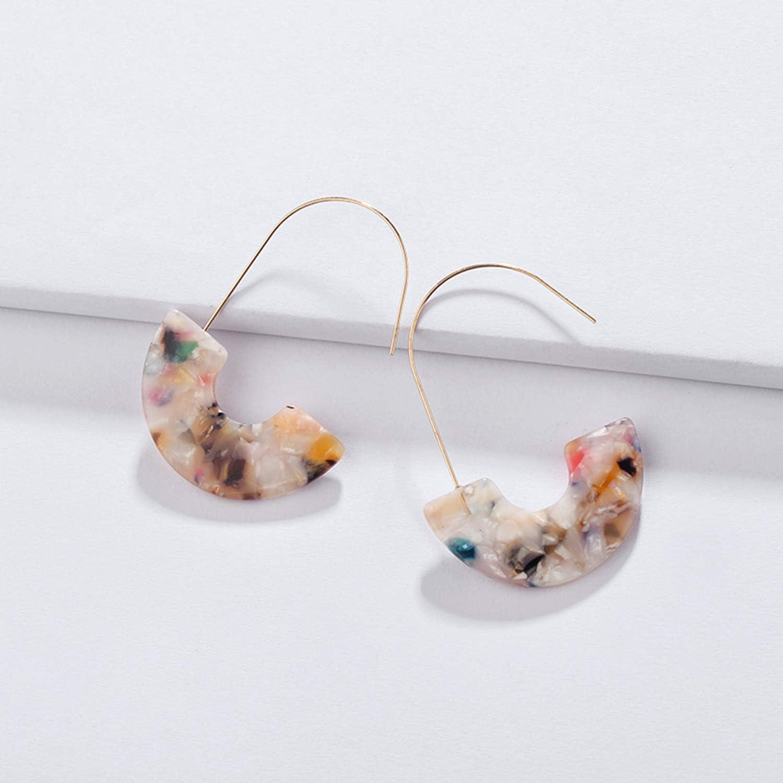 confetti drop earrings statement earrings colorful acrylic earrings Clear acrylic confetti earrings
