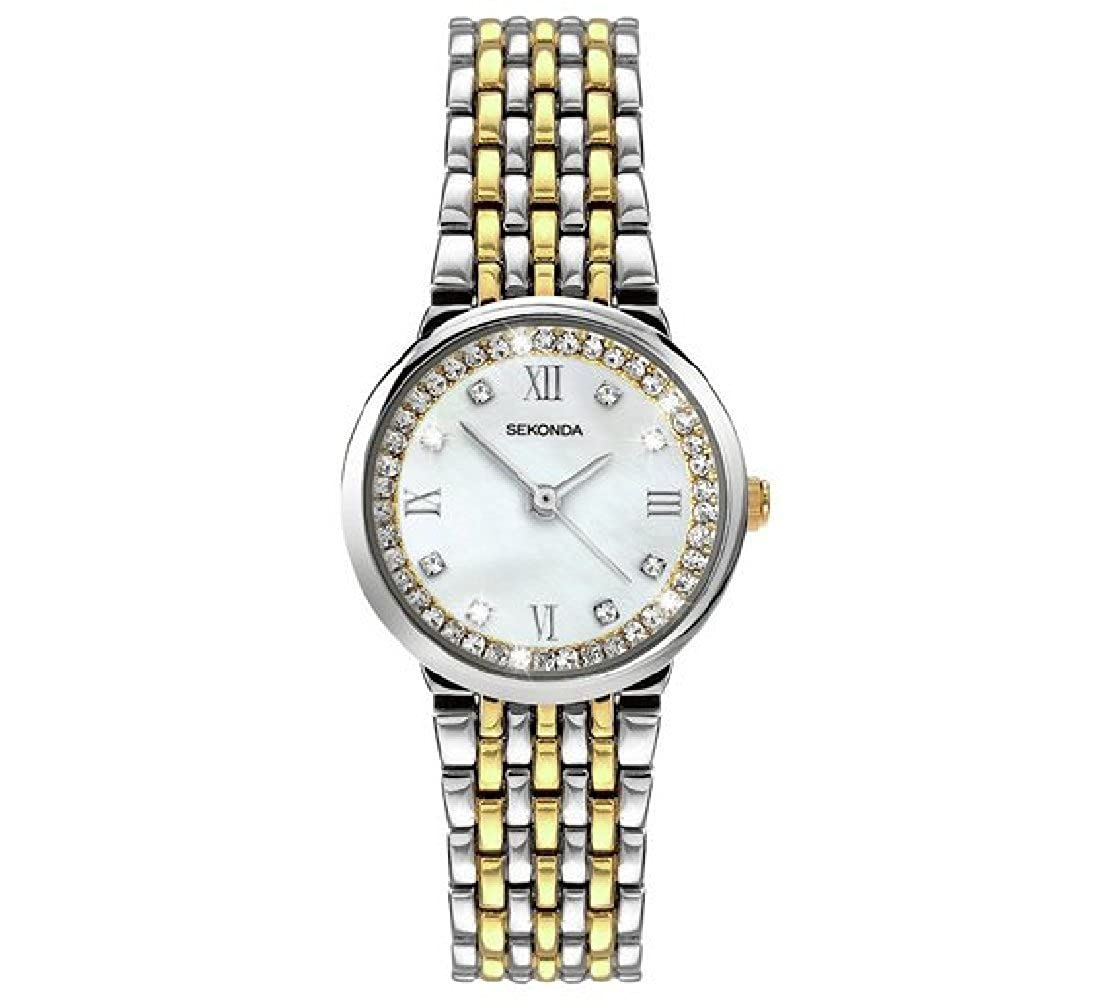 Armband Zwei Damen Set Ton Armbanduhr Stone Zifferblatt Sekonda ZOPkXiTwul