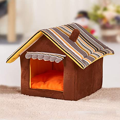 GFEU - Caseta para Perro, Desmontable, cálida, para Interior y Interior, para
