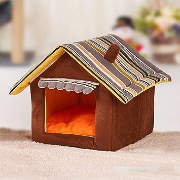 GFEU - Caseta para Perro, Desmontable, cálida, para Interior y Interior, para Perros pequeños, Cachorros y Gatos: Amazon.es: Productos para mascotas