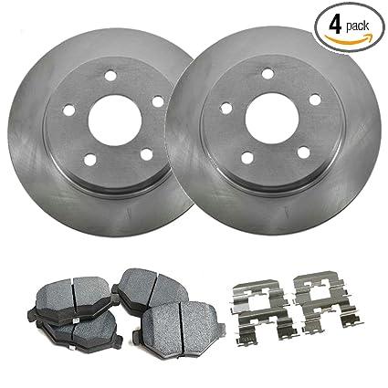 Detroit Axle - Front Brake Rotors Set & Brake Pads w/Clips Hardware Kit  Premium GRADE for 2004-2013 Mazda 3 w/2 3L/2 5L Only - [2006-2010 Mazda 5]