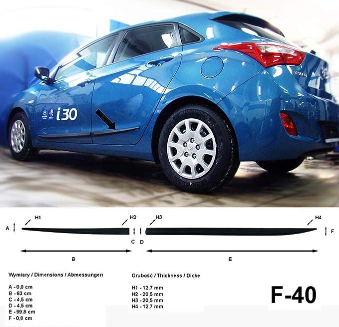 Spangenberg Listones de protección Lateral Hyundai i30 II GD Hatchback 2. Generación año de construcción 2012 – 2017 F40 (370004002)