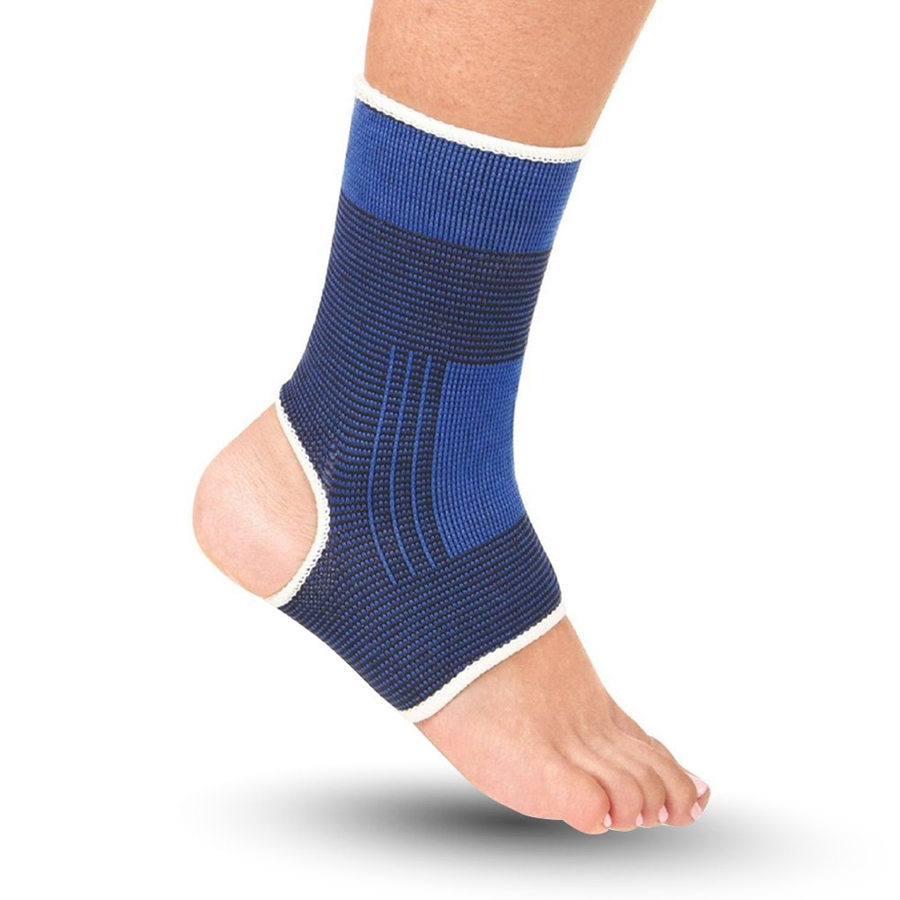 Etopsell Outdoors Sports Ankle Support Elastic Compression Wrap Brace Sleeve Bandage Support Protection