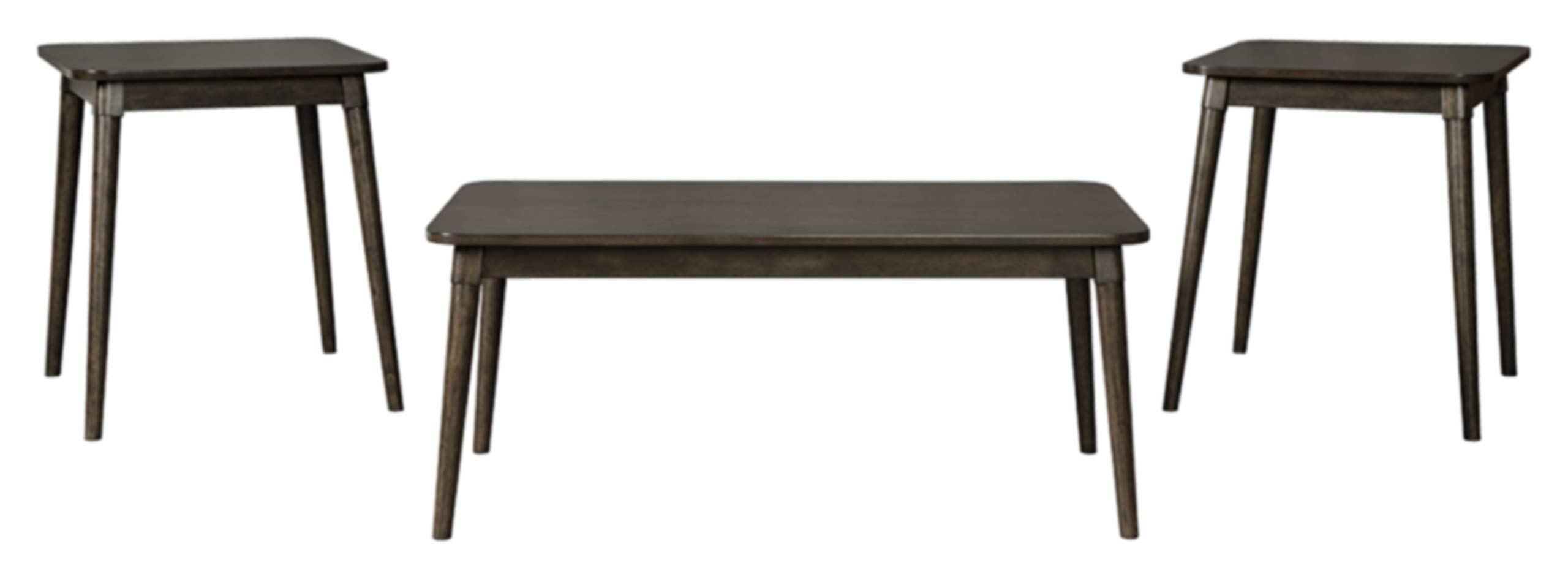 Ashley Furniture Signature Design - Neilmond Occasional Table Set - Set of 3 - Contemporary - Dark Brown by Signature Design by Ashley