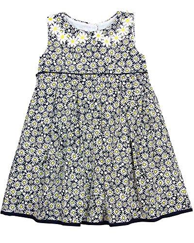 Kate Mack Little Girls' Daisy Chain Print Dress, Navy, 3T (Daisy Chain Dress)