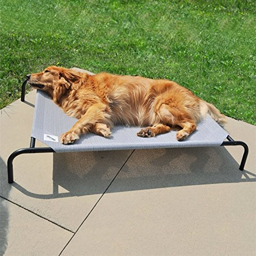 Gale Pacific The Original Elevated Pet Bed By Coolaroo - Large Grey by Gale Pacific (Image #3)
