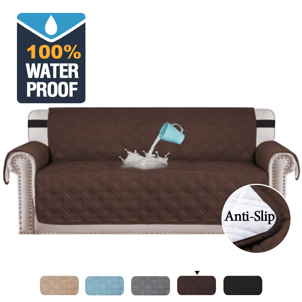 Grey Couch Covers 100/% Waterproof 3 Seater 173cm seat width Slip Resistant
