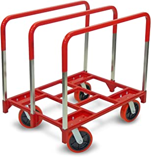 "product image for Raymond 3880 Steel Panel Mover with 3 Standard Upright and 8"" x 2"" Quiet Poly Caster, 2400 lbs Capacity, 42/16"" Length x 31/13"" Width x 6/10"" Height"