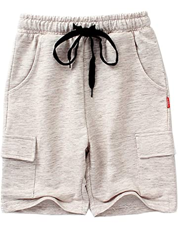 Flat Front Shorts with Adjustable Waist Shorts for Boys 3-13 Years to Wear Boys Shorts