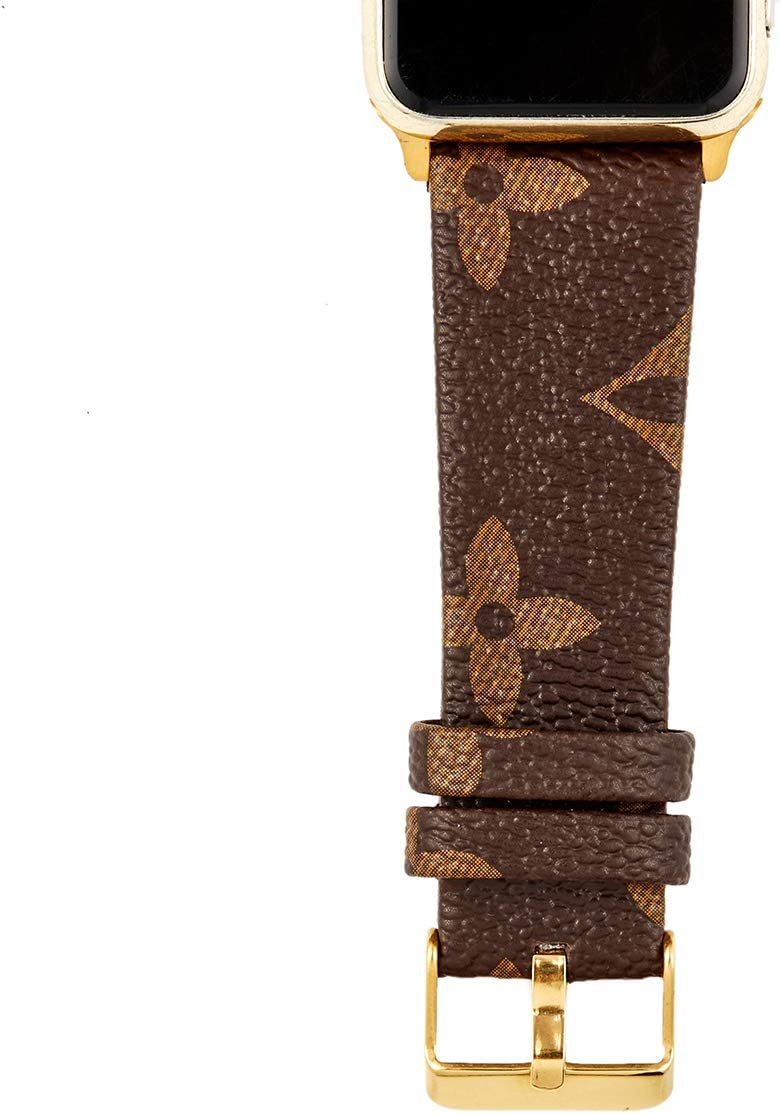 GOKE PU Vegan Leather Watch Band Brown