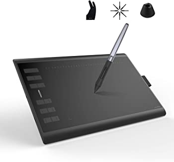 Huion Inspiroy H1060P Graphics Drawing Tablet with Tilt Response Stylus