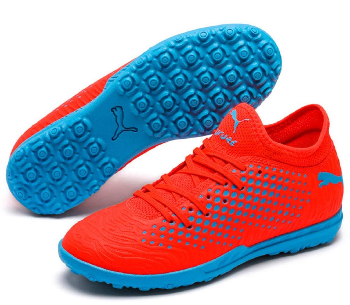 PUMA Future 19.4 TT JR Soccer Shoe (2.5C US, Red Black-Bleu Azur)