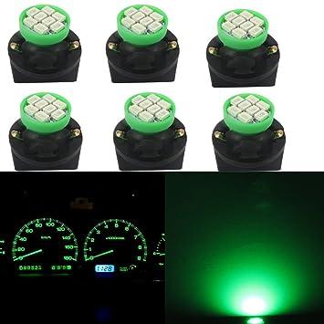 Cierre giratorio de T10 Bombilla LED,WLJH 6pcs Verde 8SMD 1206 chipsets 168 W5 W