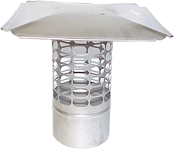 The Forever Cap Ccss4r 4 Inch Stainless Steel Slip In Round Chimney Cap Home Improvement