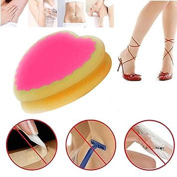 1pc Soft Magic Painless Bath Shower Body Scrub Sponge Pad Women Ladies Facial Leg Arm Body Hair Removal Tool Scrubs & Bodys Treatments Beauty & Health