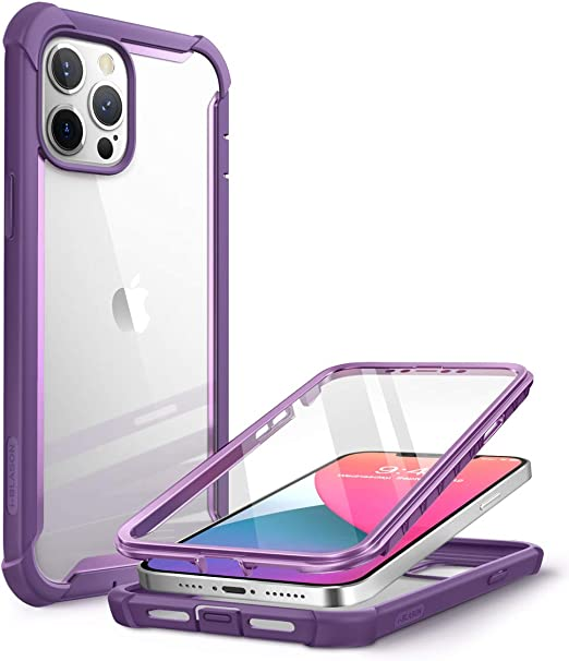 I Blason Transparent Hülle Für Iphone 12 Pro Max 6 7 Bumper Case 360 Grad Handyhülle Robust Schutzhülle Cover Ares Mit Displayschutz 2020 Lila Elektronik