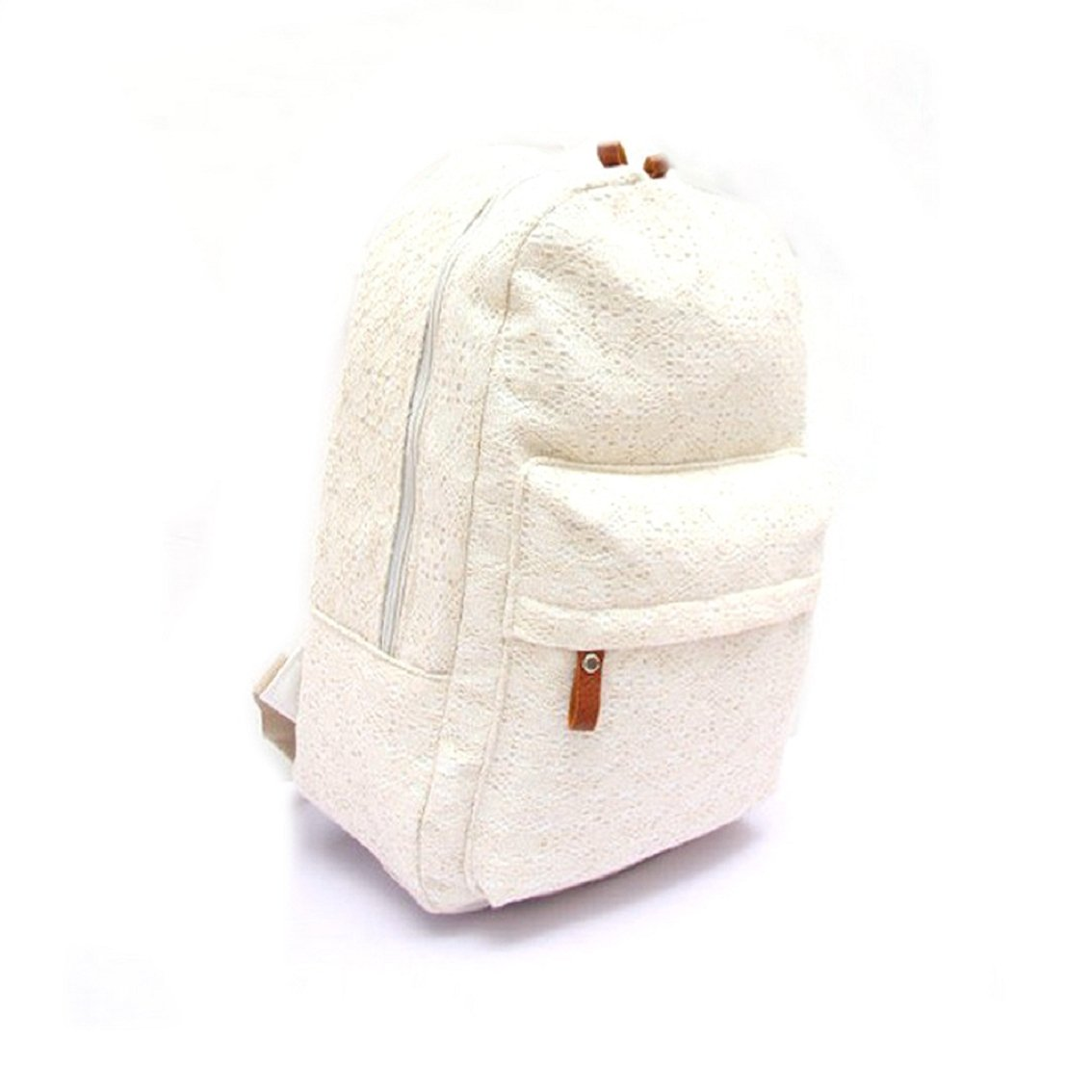 Willtoo(TM) Fashion Girls Cute Lace Canvas Backpack Sports Bag New Schoolbag (White)