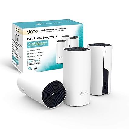 TP-Link Deco P9 (3-Pack) - Híbrido Wi-Fi de Malla para Todo el hogar con Powerline Backhaul, Ideal para Paredes Gruesas, Cobertura de hasta 560㎡, ...