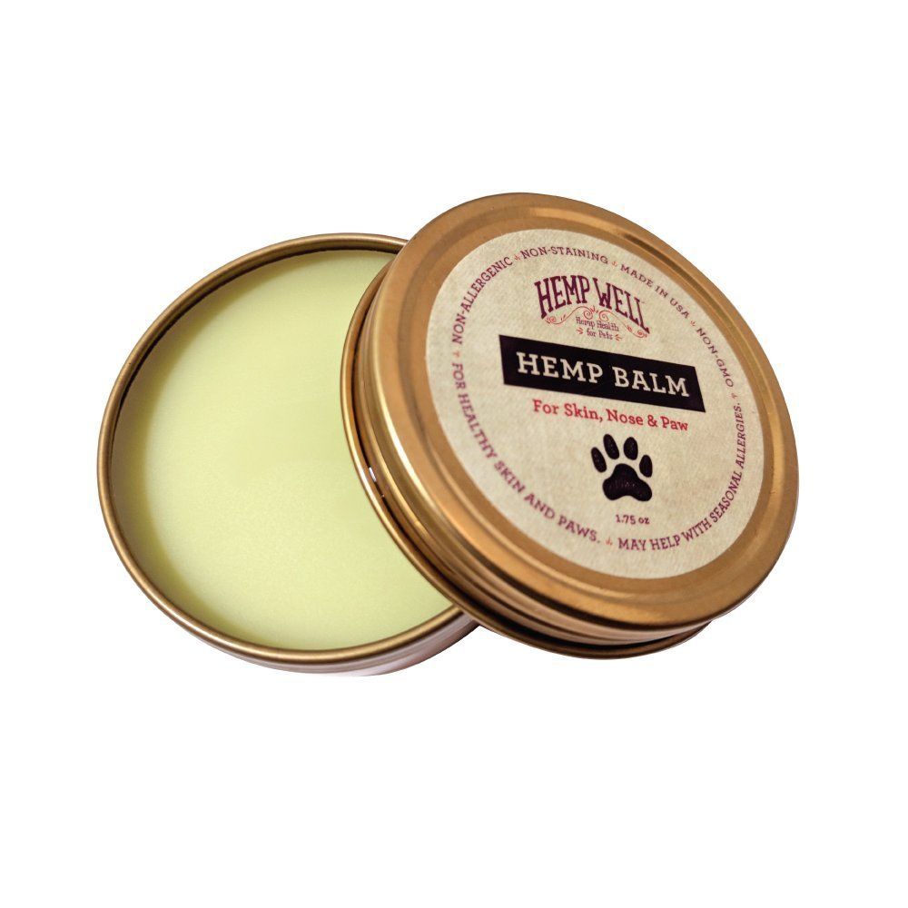 Hemp Balm - Relief and Protection for Dogs & Cat Nose, Skin and Paws from Dryness, Chapping, Cracks and Cold Damage [1.75 Oz]. by Hemp Well