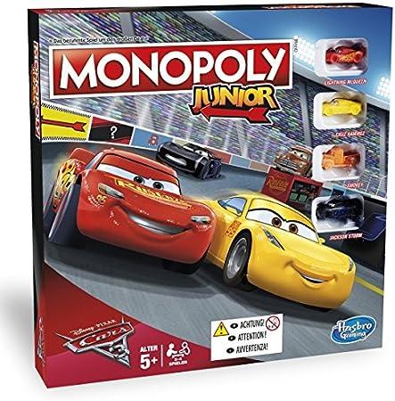 Cars 3 - Monopoly Junior (Hasbro) (versión alemana): Amazon.es: Juguetes y juegos