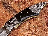 Custom made damascus blade one of a stunning folding knife 5163