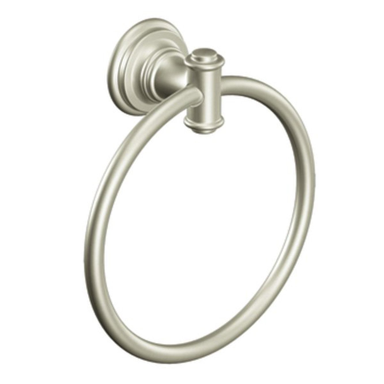 Moen DN9186BN Ellsworth Towel Ring, Brushed Nickel by Moen