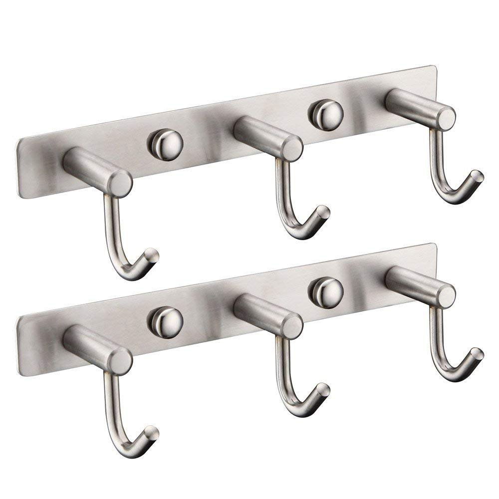 Amazon.com: Mellewell - Perchero de pared (acero inoxidable ...