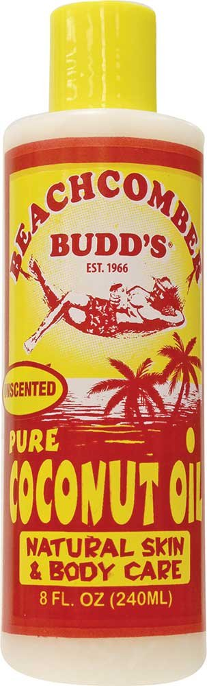 Value Pack Hawaiian Beachcomber Budd Pure Coconut Oil 8 oz. Unscented 8 Bottles by Beachcomber Budd's (Image #1)