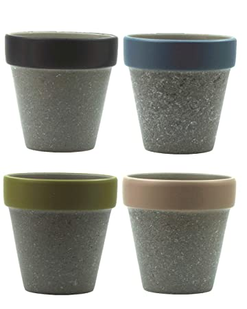 Amazon Com Gardenbasix Crafts Mini Terracotta Ceramic Planter Pots