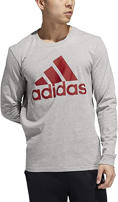 adidas Basic Badge of Sport Long Sleeve tee Camisa Hombre