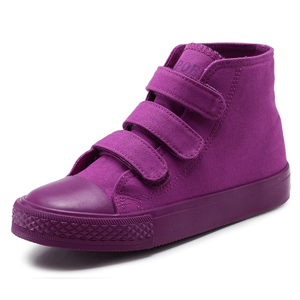 Boys Girls High-Top Casual Strap Canvas Sneaker Toddler//Little Kid//Big Kid