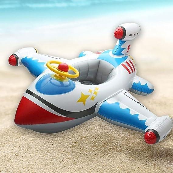 Fullfun Airplane Pool Float Giant Swan 110cm Inflatable Swimming Pool Ring Toys for Children Flotadores Para Piscina - - Amazon.com