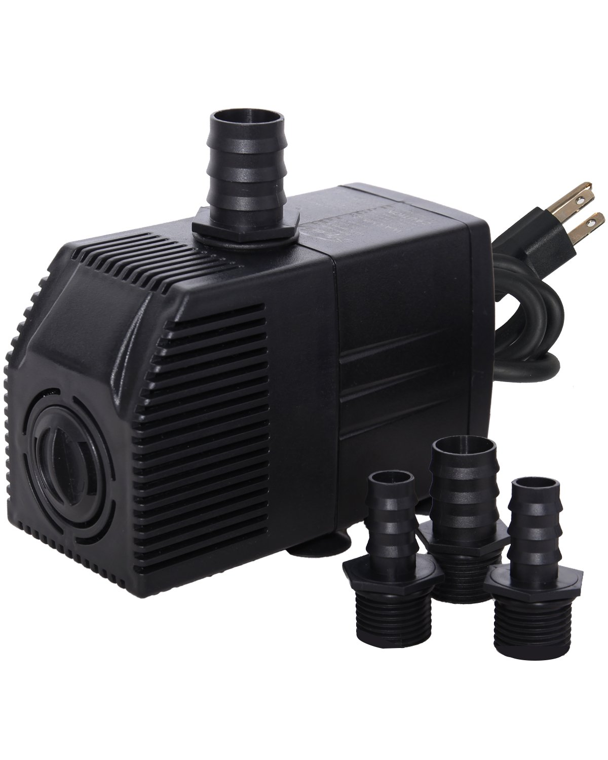 Simple Deluxe 290 GPH UL Listed Submersible Pump with 6' Cord, Water Pump for Fish Tank, Hydroponics, Aquaponics, Fountains, Ponds, Statuary, Aquariums & Inline