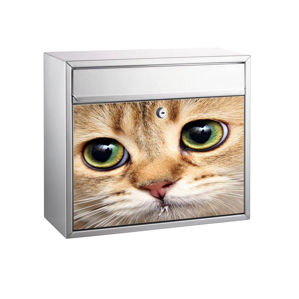 Motiv Katze SHIRT-TO-GO Briefkasten Aufkleber-Dekorfolie f/ür Briefk/ästen selbstklebender Folienaufkleber 37 x 33 cm