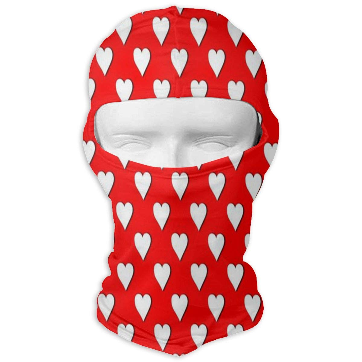 Balaclava Red Polka Heart Dot Full Face Masks Ski Headwear Motorcycle Hood for Cycling Sports Mountaineering