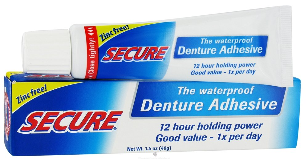 Secure Denture Adhesive >> Amazon Com Fittydent Secure Denture Adhesive 1 4 Oz Zinc Free