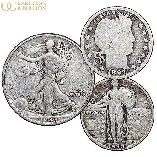 1892-1947 US Silver Coins, Walking Liberty Half Dollar, Barber & Standing Liberty Quarter $1 - Walking Liberty Quarters