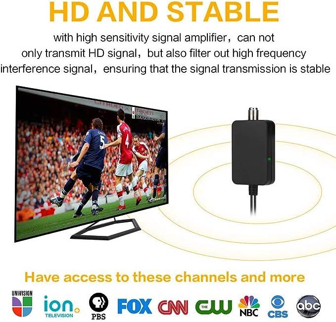 Lakote Amplified HD Digital TV Antena 120 Millas Rango 4K 1080P ...