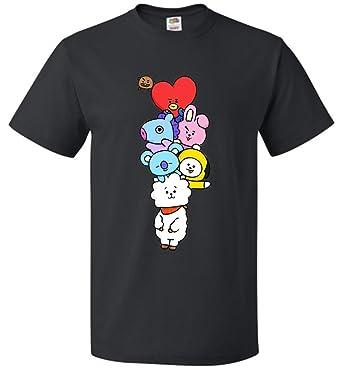 Funny BT21 The Incredible BTS T-Shirt Koya RJ Shooky Mang Chimmy Tata Cooky
