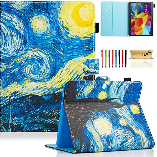 Galaxy Tab 4 10.1 Case,T530 Case,Dteck(TM) PU Leather Flip Stand Protective Case with Auto Wake/Sleep Feature Magnetic Smart Shell Cover for Samsung Galaxy Tab 4 10.1 SM-T530NU T531 T535, Starry Night (Samsung Galaxy Tab 4 Case Art)