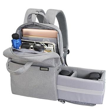 CADeN Professional Fashion Camera Backpack DSLR/SLR Bag Water Resistant Multifunctional Travel Outdoor Waterproof Shockproof Tablet Laptop Bag for Sony Canon Nikon Lens Tripod Accessories Men Women