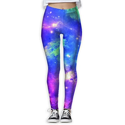 Space Galaxy Shimmering Printed Yoga Athletic Pants Best Choice For Women