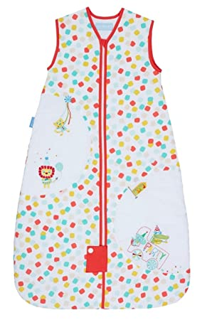 online retailer 79593 14f18 Grobag Party Animals 100% Cotton Summer 1.0 Tog Unisex Nursery Baby  Sleeping Bag 18-36 Months Multi-Coloured