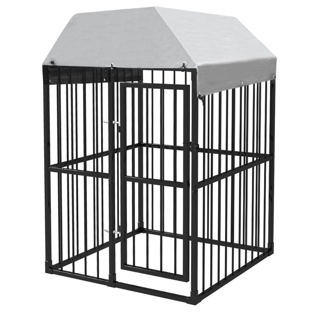 120 x 120 x 181 cm vidaXL Heavy-Duty Outdoor Dog Kennel with Roof 120x120cm Puppy House Cage