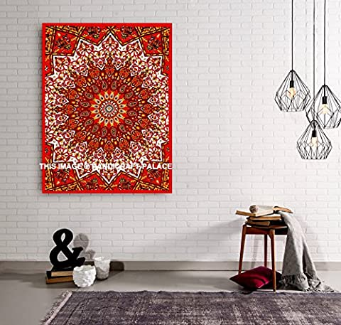 Ethnic Cotton Handmade Indian Tapestry Bohemian Star Mandala Wall Hanging Wall Decor Throw Decor 42