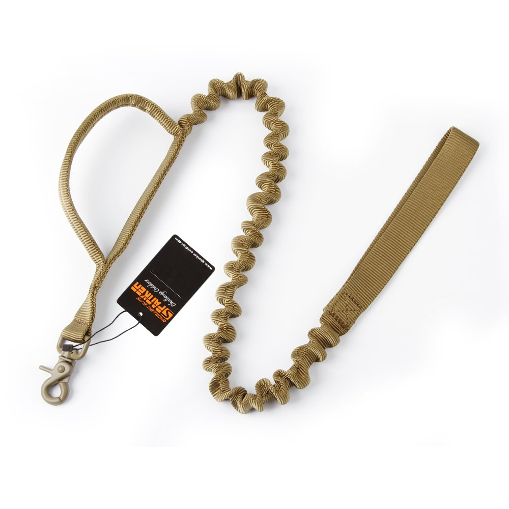 EXCELLENT ELITE SPANKER Tactical Bungee Dog Leash Military Police Dog Training Leash Rope with 2 Control Handle(COB)