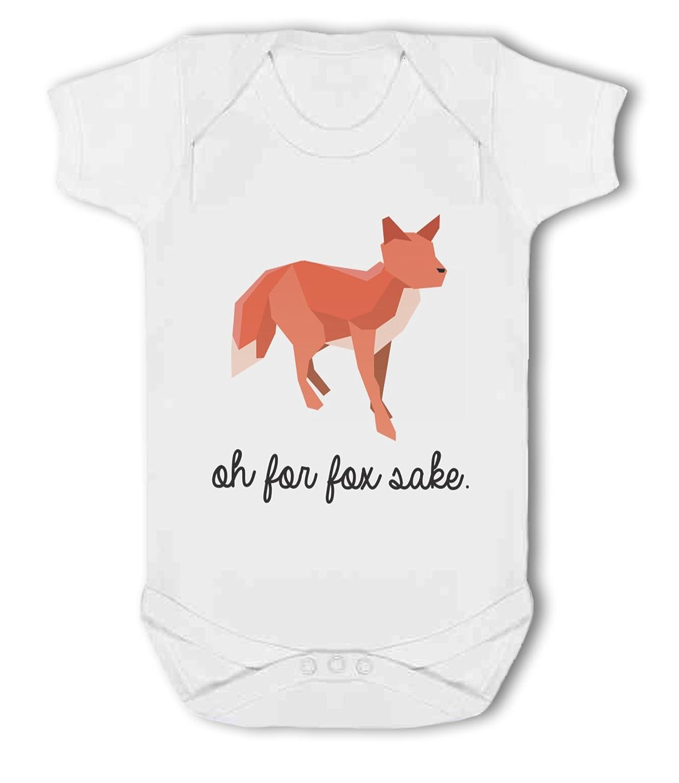 Funny animal pun Baby Vest For Fox Sake